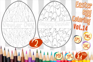 Print on Demand: Easter Egg Coloring Vol 14 Graphic 3rd grade By Kiang Stock Digiart