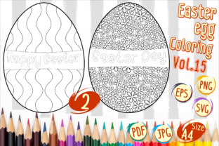Print on Demand: Easter Egg Coloring Vol 15 Graphic 2nd grade By Kiang Stock Digiart