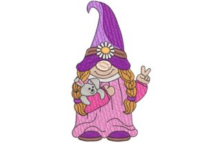 Easter Gnome Easter Embroidery Design By BabyNucci Embroidery Designs