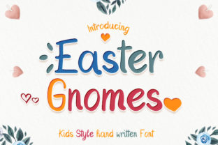 Print on Demand: Easter Gnomes Script & Handwritten Font By numnim