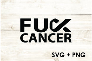 Print on Demand: FU Cancer Ribbon Graphic Print Templates By Too Sweet Inc