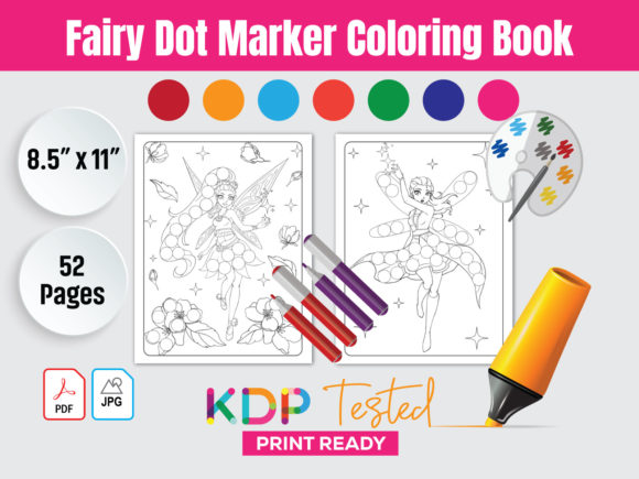 Fairy Dot Marker Coloring Book Interior Graphic KDP Interiors By GraphicTech360