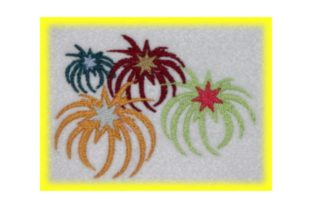 Fireworks Holidays & Celebrations Embroidery Design By Wingsical Whims Designs