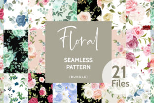 Floral Seamless Pattern Bundle  By dinomikael01
