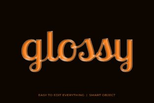 Glossy 3d Style Text Effect Graphic Layer Styles By grgroup03