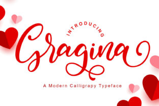 Print on Demand: Gragina Script & Handwritten Font By Letterfand.Studio