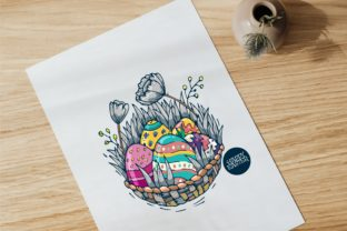 Happy Easter! Colorful Happy Easter Egg Graphic Illustrations By onoborgol