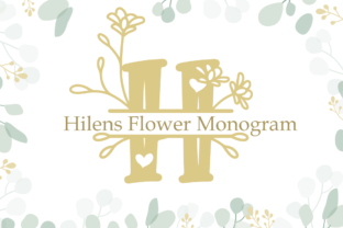 Print on Demand: Hilens Flower Monogram Decorative Font By attypestudio