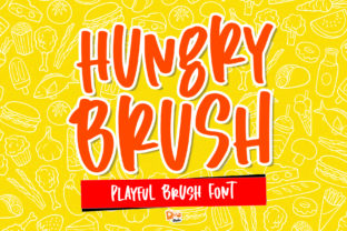 Print on Demand: Hungry Brush Display Font By dmletter31