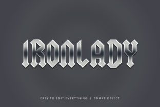 Print on Demand: Ironlady 3d Silver Style Text Effect Graphic Layer Styles By grgroup03