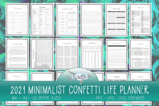 Print on Demand: KDP Confetti Minimalistic Life Planner Graphic KDP Interiors By CapeAirForce