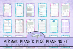 Print on Demand: KDP Mermaid Blog Planner Graphic KDP Interiors By CapeAirForce