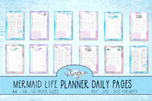 Print on Demand: KDP Mermaid Planner Daily Pages Graphic KDP Interiors By CapeAirForce
