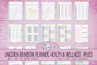 Print on Demand: KDP Unicorn Health & Wellness Planner Graphic KDP Interiors By CapeAirForce