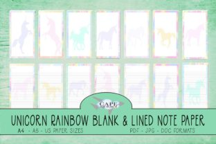 Print on Demand: KDP Unicorn Rainbow Journal Pages Graphic KDP Interiors By CapeAirForce
