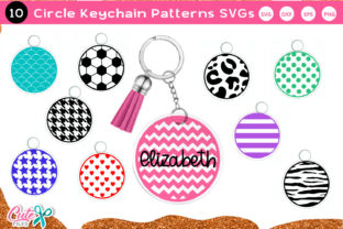 Keychain Pattern Monogram Frame SVG Graphic Crafts By Cute files