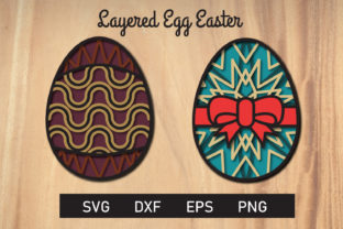 Print on Demand: Layered Mandala Egg Easter Svg Cut File Graphic 3D SVG By dadan_pm