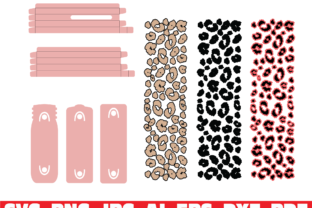 Leopard Print Glitter Pen Wraps Graphic Print Templates By dodo2000mn1993