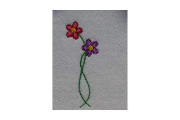 Little Flowers Single Flowers & Plants Embroidery Design By Wingsical Whims Designs