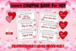 Lovers Coupon Book HER - KDP Interior Graphic KDP Interiors By KDP Design Tiger