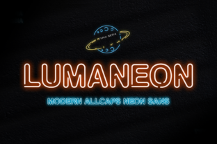 Print on Demand: Lumaneon Display Font By Typia Nesia
