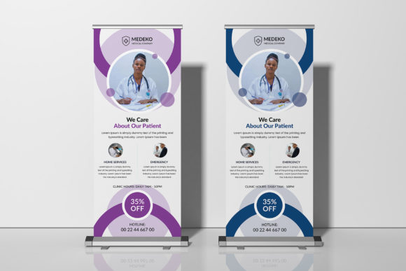 Medical Health Roll-up Banner Graphic