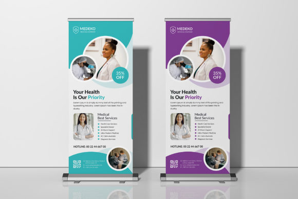 Medical Roll Up Banner Graphic