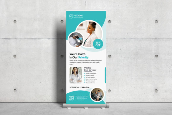 Medical Roll Up Banner Graphic Download