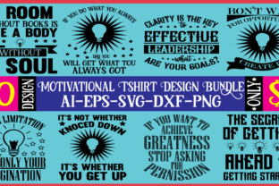 Motivational T-shirt Design Bundle  By BDB Design Store