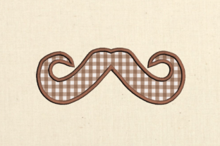 Mustache Applique Father's Day Embroidery Design By DesignedByGeeks