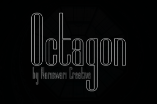 Print on Demand: Octagon Sans Serif Font By Nariswari Creative
