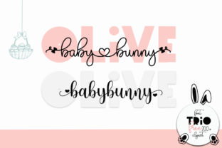 Print on Demand: Olive Babybunny Script & Handwritten Font By Fillo Graphic