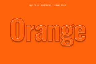 Print on Demand: Orange 3d Jelly / Oily Style Text Effect Graphic Layer Styles By grgroup03