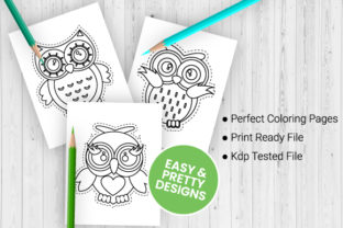 Print on Demand: Owl Scissor Skills Coloring Pages Graphic Coloring Pages & Books Kids By Trend Color