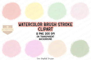 Print on Demand: Pastel Watercolor Brush Stroke Clipart Graphic Illustrations By SineDigitalDesign