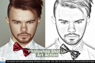 Print on Demand: Photoshop Sketch Art Action Graphic Actions & Presets By VatDesign