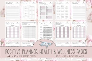 Print on Demand: Positive Health & Wellness Planner Graphic KDP Interiors By CapeAirForce
