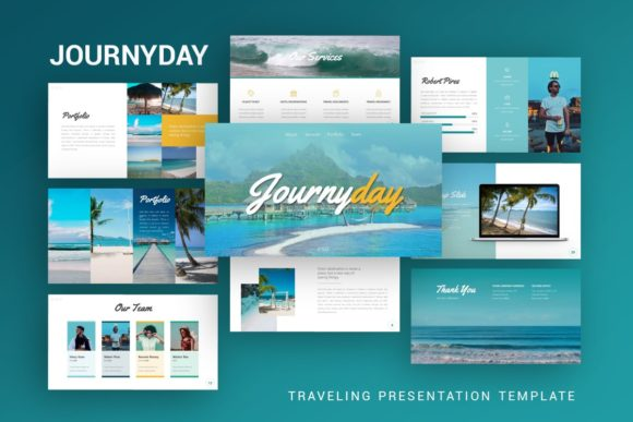 Presentation Template - Journyday Graphic Presentation Templates By dijimedia