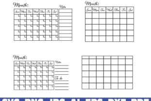 Print on Demand: Printable Calendar Graphic Graphic Templates By Sofiamastery
