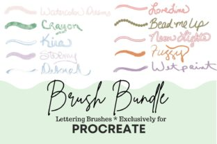 Print on Demand: Procreate Lettering Brush Bundle Graphic Brushes By Shannon Casper