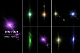 Realistic Lens Flare Light Isolated Set Graphic Illustrations By mahmud.ovi01777