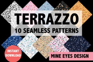Print on Demand: Recycled Terrazzo Seamless Patterns Graphic Backgrounds By Mine Eyes Design