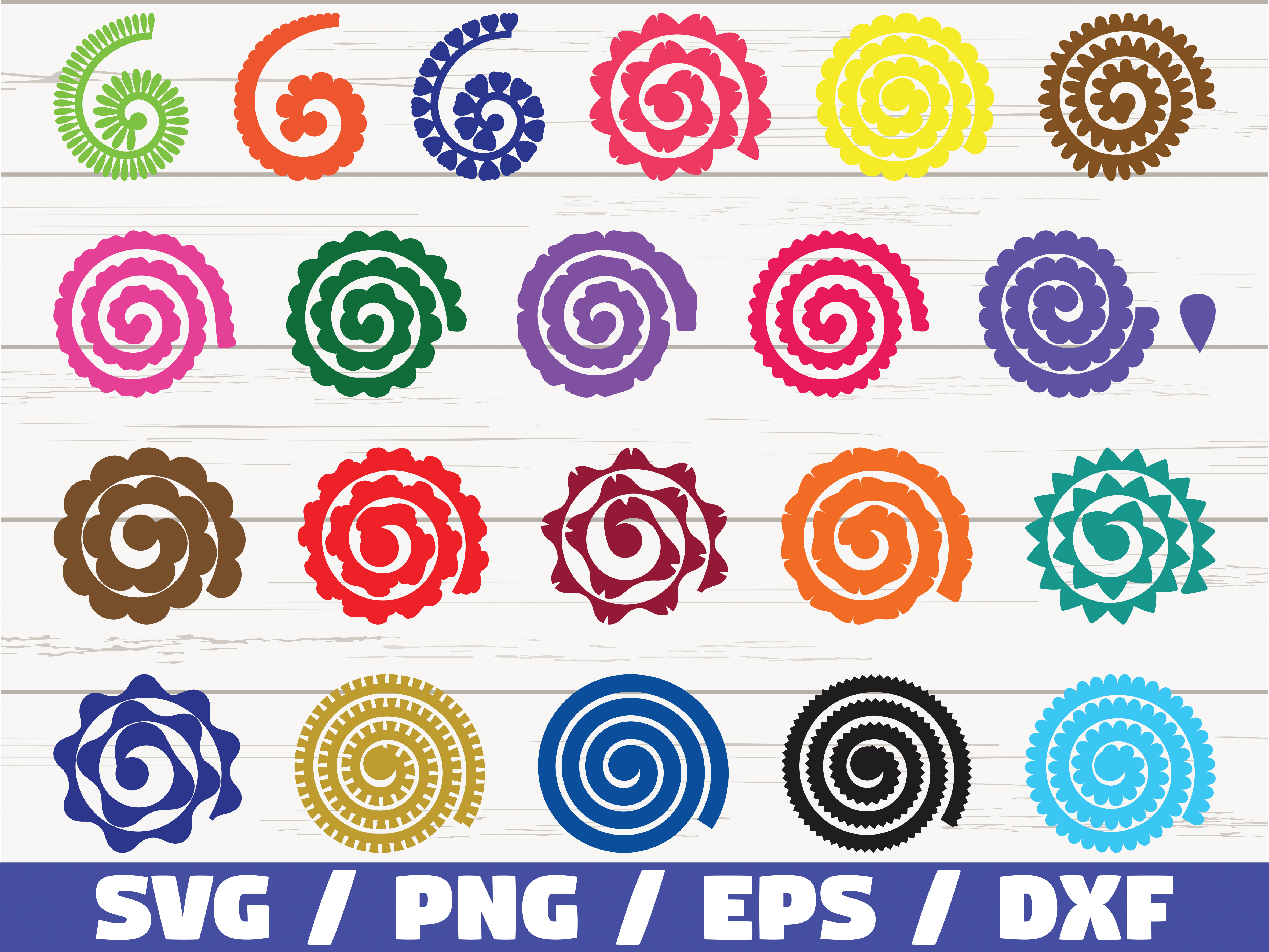 Rolled Paper Flowers SVG / Cut Files SVG File