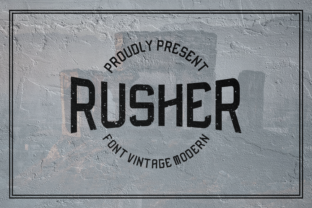Print on Demand: Rusher Display Font By Mubarak Studio