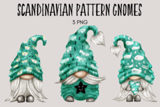 Print on Demand: Scandinavian Pattern Gnomes Graphic Illustrations By Celebrately Graphics