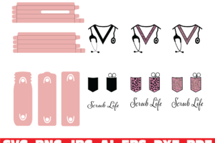 Print on Demand: Scrub Life Glitter Pen Wraps Graphic Illustrations By Sofiamastery