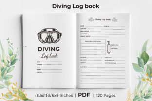 Print on Demand: Scuba Diving Logbook KDP Interior Graphic KDP Interiors By KdpKing