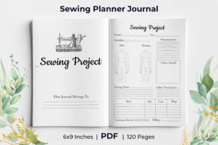 Print on Demand: Sewing Planner Journal  KDP Interior Graphic KDP Interiors By KdpKing