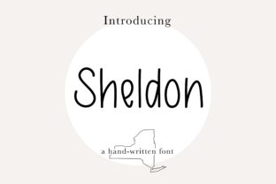 Print on Demand: Sheldon Sans Serif Font By beccasbrushlettering