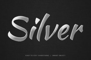 Print on Demand: Silver 3d Nice Dynamic Style Text Effect Graphic Layer Styles By grgroup03